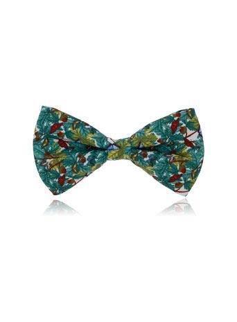 Topman Butterfly Print Bow Tie Badge