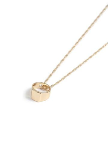 Topman Mens Gold Signet Necklace*