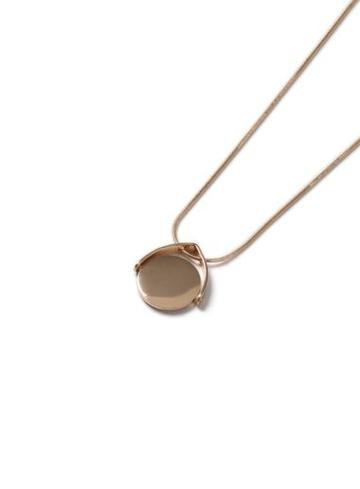 Topman Mens Gold Look Spinning Pendant Necklace*
