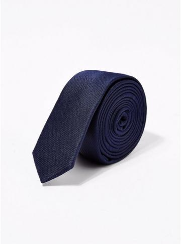 Topman Mens Skinny Navy Tie
