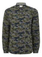 Topman Mens Grey Hymn Gray Camouflage Shirt
