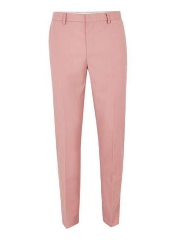 Topman Mens Pink Skinny Suit Pants