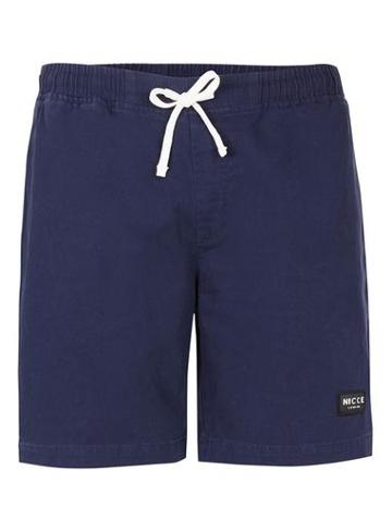 Topman Mens Blue Nicce Navy Twill Shorts