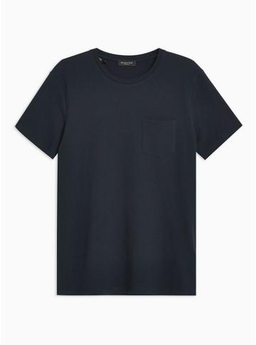 Selected Homme Mens Selected Homme Navy Waffle T-shirt