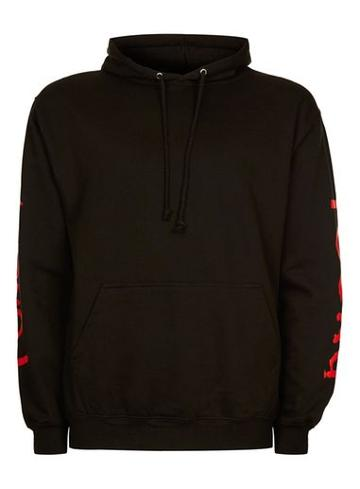 Topman Mens Topman Design Black Young Hoodie