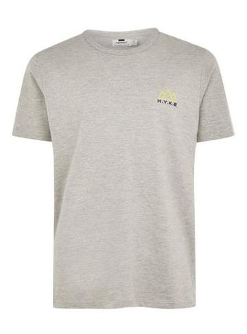 Topman Mens Grey Marl 'hyke' T-shirt