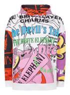 Topman Mens Topman Design Multicolored 'mash Up' Hoodie