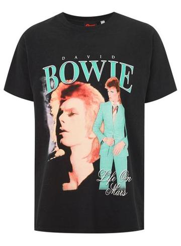 Topman Mens Black David Bowie T-shirt