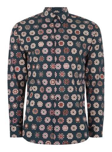 Topman Mens Selected Homme+ Navy Shirt