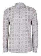 Topman Mens Grey Printed Casual Shirt