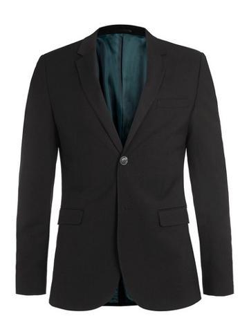 Topman Mens Black Super Skinny Fit Suit Jacket