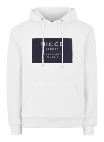 Topman Mens Nicce White 'odyssey' Patch Logo Hoodie