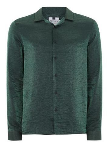 Topman Mens Green Glitter Shirt