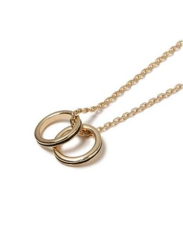Topman Mens Black Gold Ring Necklace*
