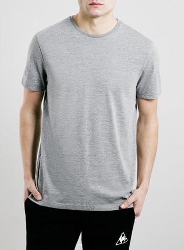 Topman Mens Mid Grey Grey Marl Slim Fit T-shirt