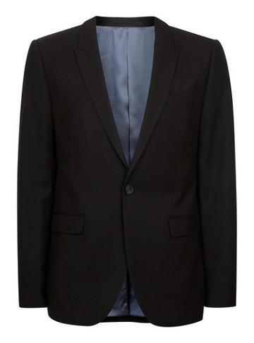 Topman Mens Black Textured Super Skinny Suit Jacket