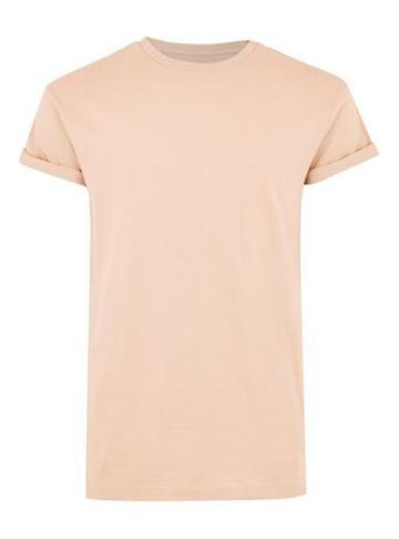 Topman Mens Apricot Orange Muscle T-shirt