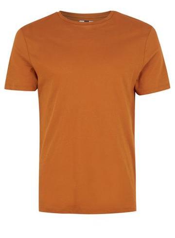 Topman Mens Orange Rust Lightweight T-shirt