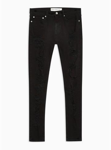 Topman Mens Black Super Spray On Jeans