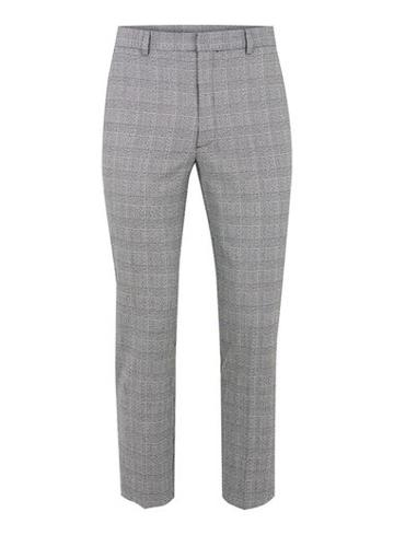 Topman Mens Black And White Check Skinny Cropped Pants