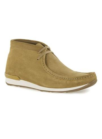 Topman Mens Khaki Suede Lace Up Chukka Boots