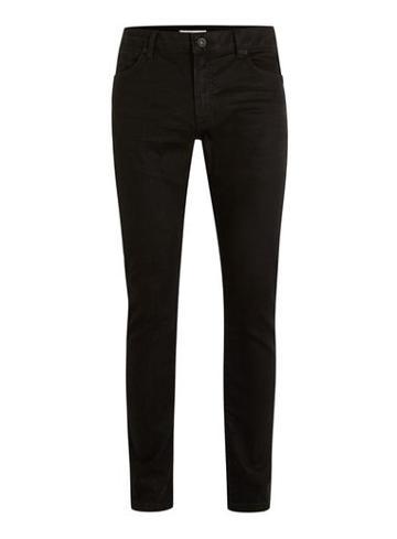 Topman Mens Black Oil Coated Stretch Slim Fit Jeans