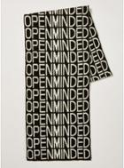 Topman Mens Black And White 'open Minded' Scarf