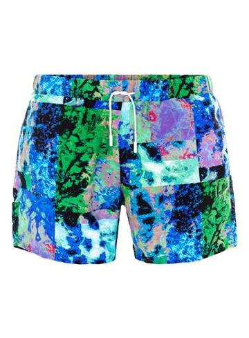 Topman Mens Multi Texture Print Swim Shorts