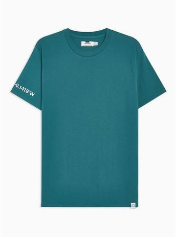 Topman Mens Blue 'heights' 3m Reflective T-shirt