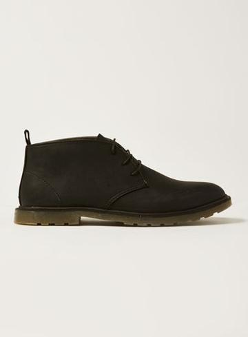 Topman Mens Black Preston Chukka Boots