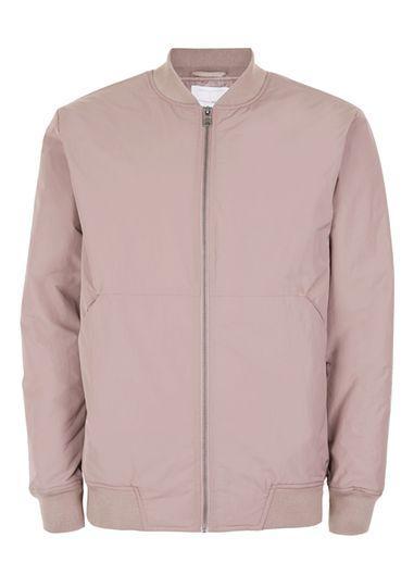 Topman Mens Topman Premium Pink Bomber Jacket