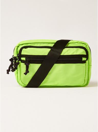 Topman Mens Lime Green Cross Body Bag