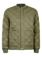 Topman Mens Green Khaki Quilted Lightweight Puffer Jacket