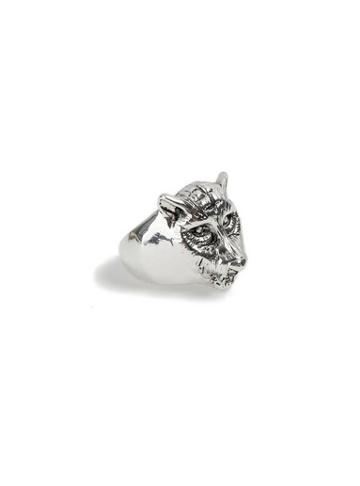 Topman Mens Silver Jaguar Ring*
