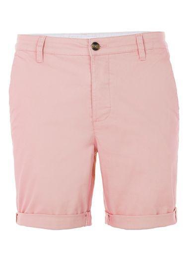 Topman Mens Pink Stretch Skinny Chino Shorts