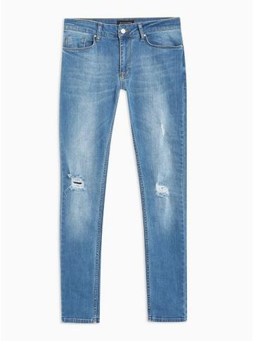 Antioch Mens Indigo Antioch Spray On Skinny Jeans*