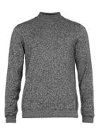Topman Mens Grey Salt And Pepper Mini Turtle Neck Sweater