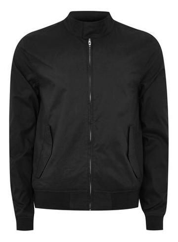 Topman Mens Black Stretch Harrington Jacket