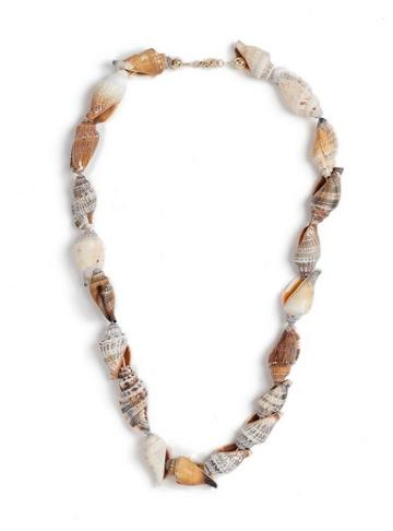 Topman Mens Cream Conch Shell Necklace*