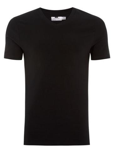 Topman Mens Black Ultra Muscle V-neck T-shirt