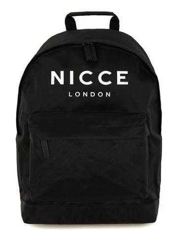 Topman Mens Black Nicce Logo Backpack
