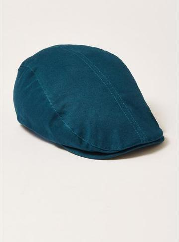 Topman Mens Blue Navy Twill Flat Cap
