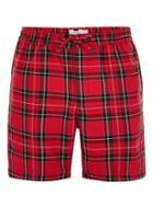 Topman Mens Red Tartan Shorts