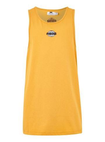 Topman Mens Yellow Mustard 'rs92' Slim Tank