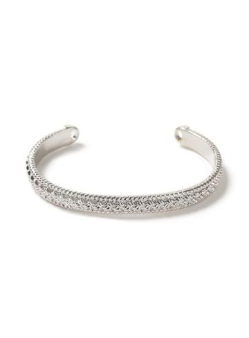 Topman Mens Silver Etched Bangle Bracelet*