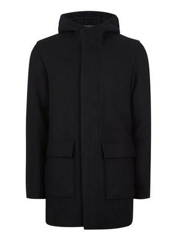 Topman Mens Selected Homme Navy Wool Coat