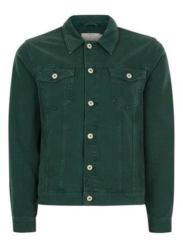 Topman Mens Dark Green Denim Jacket