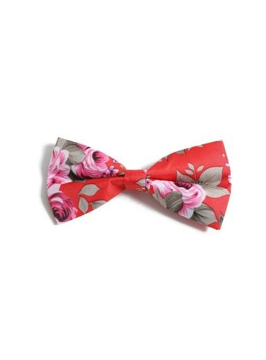 Topman Mens Red Floral Bow Tie*