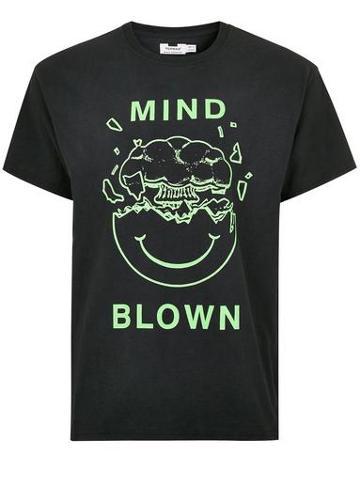 Topman Mens Black 'mind Blown' T-shirt