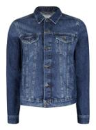 Topman Mens Blue Indigo Wash Denim Jacket